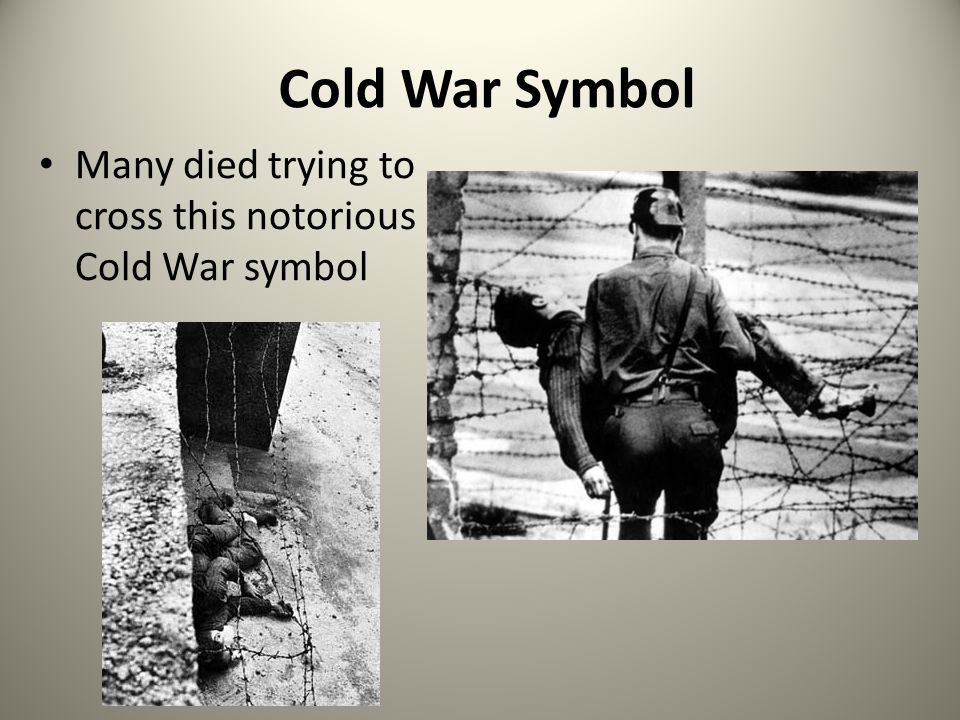 Cold War Symbol Many died trying to cross this notorious Cold War symbol