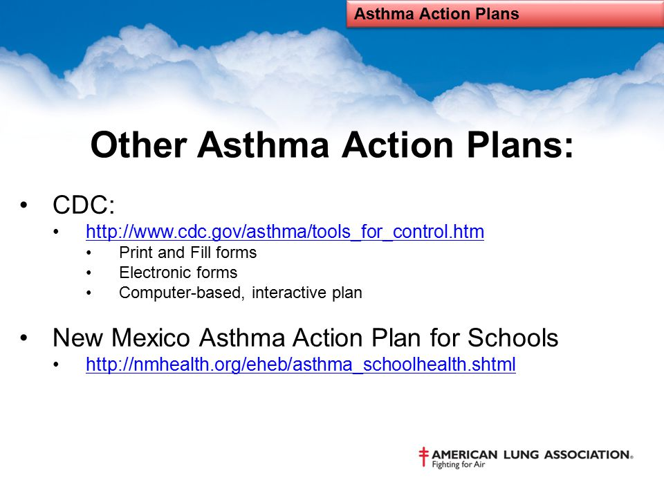 Asthma Action Plan Presented By Ruthann Begay Goradia Msn Mph Rn