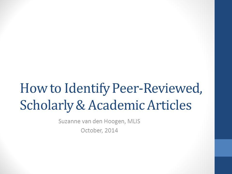 Peer reviewed academic articles