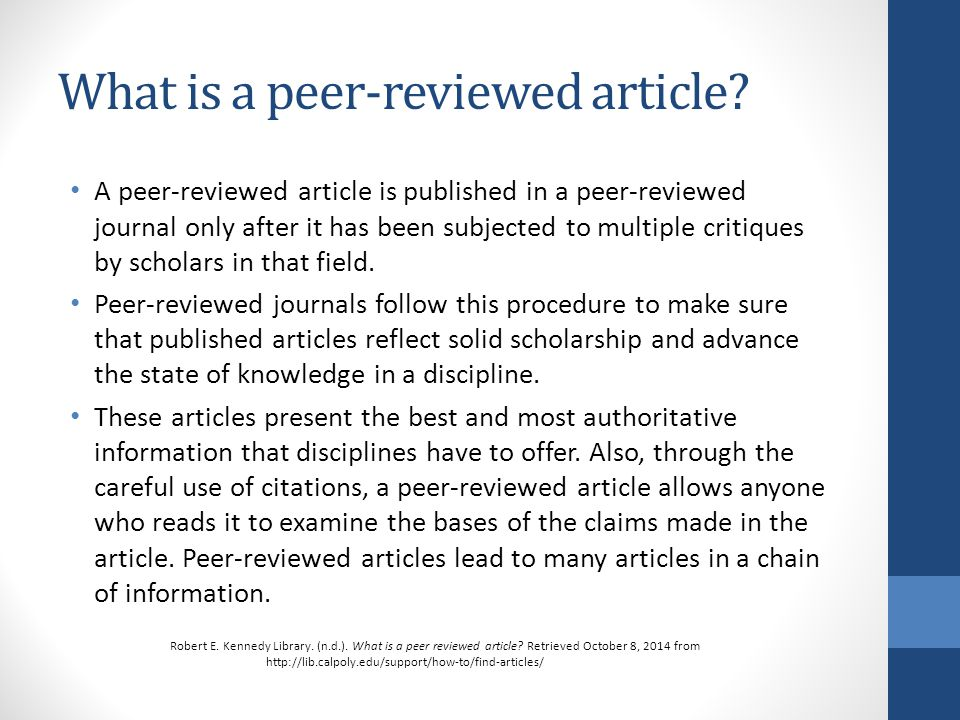 Reviewed journal articles
