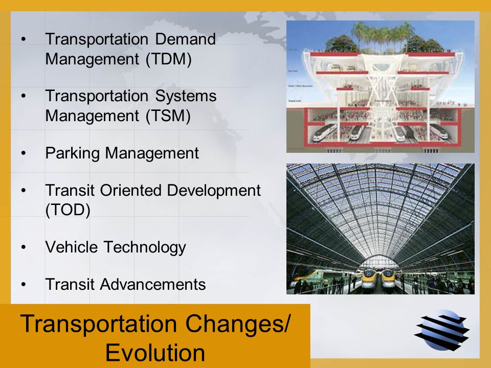 Evolution of transportation system