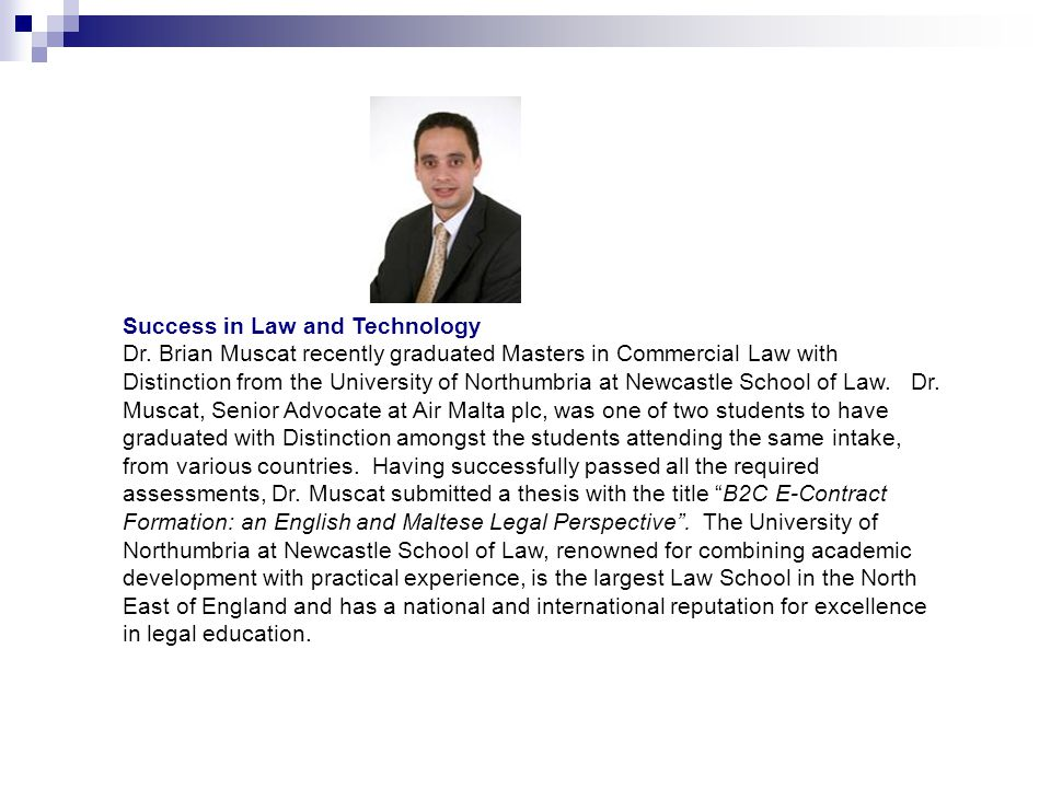 Success in Law and Technology Dr.