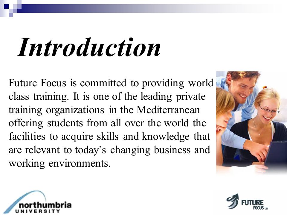 Future Focus is committed to providing world class training.