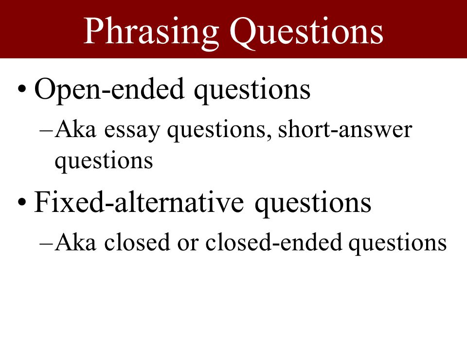 How to answer question in essay format?