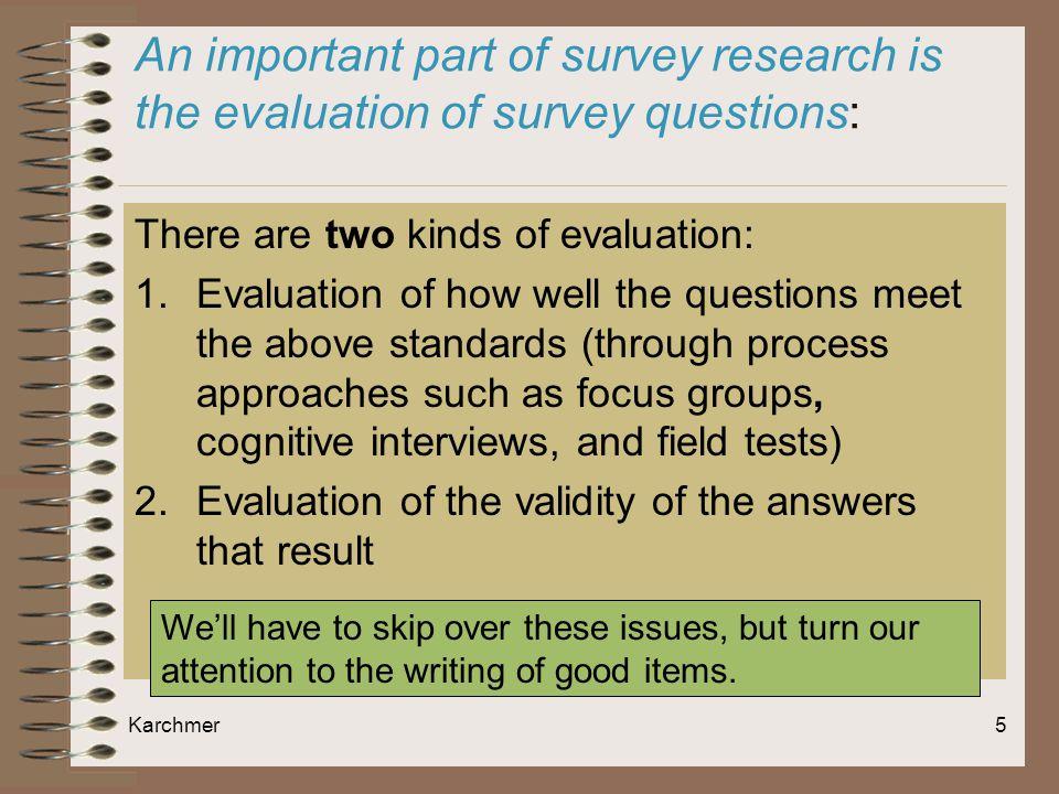 Good evaluation topic?