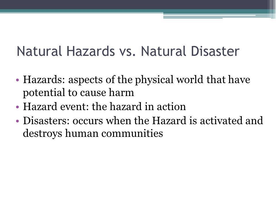 Natural hazards essay