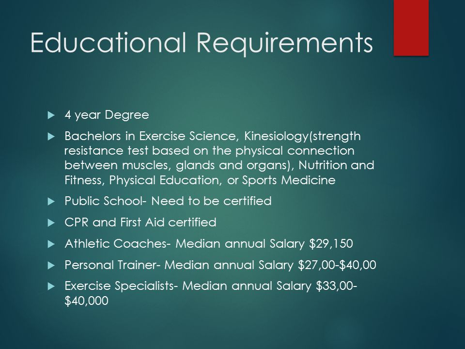 exercise science major salary