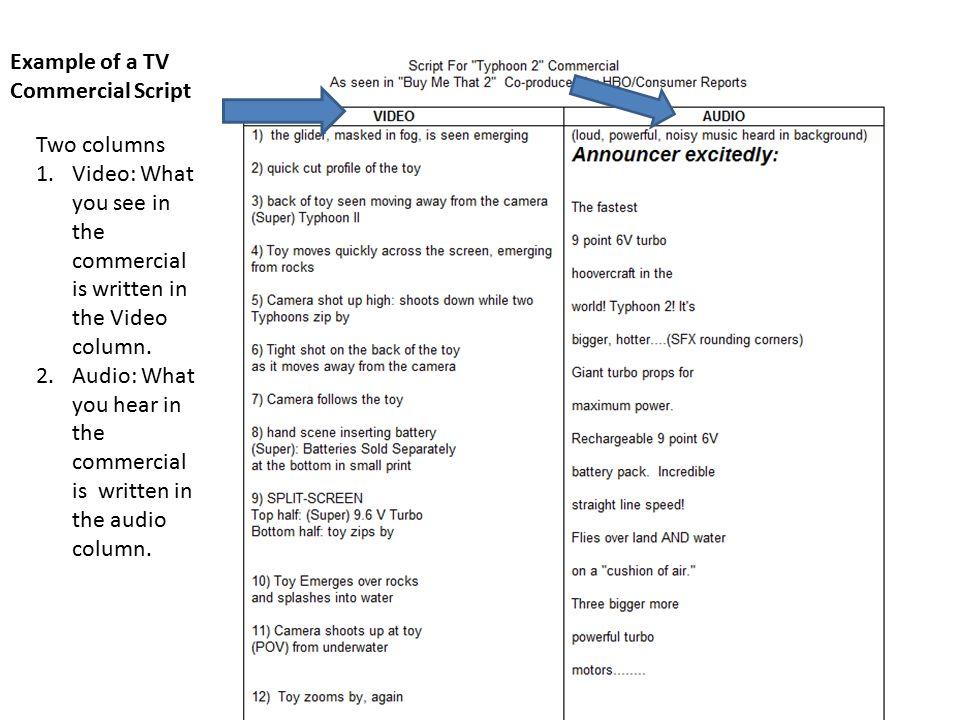 Tv Commercial Script Format Hobitfullring