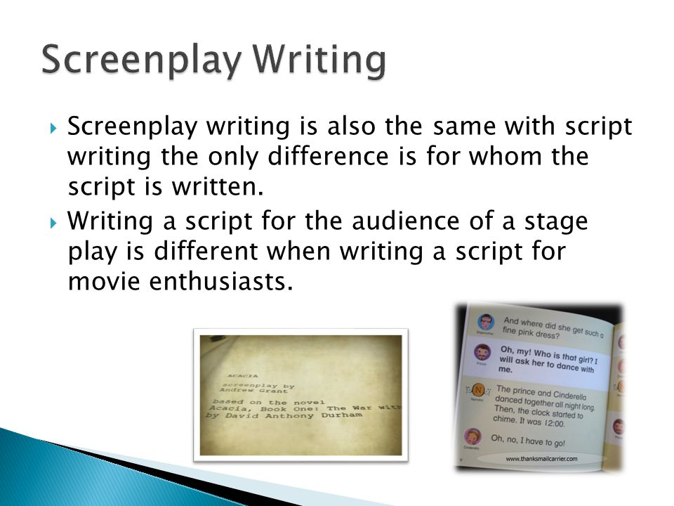 Drama Script And Screenplay Writing  Drama In Writing Means