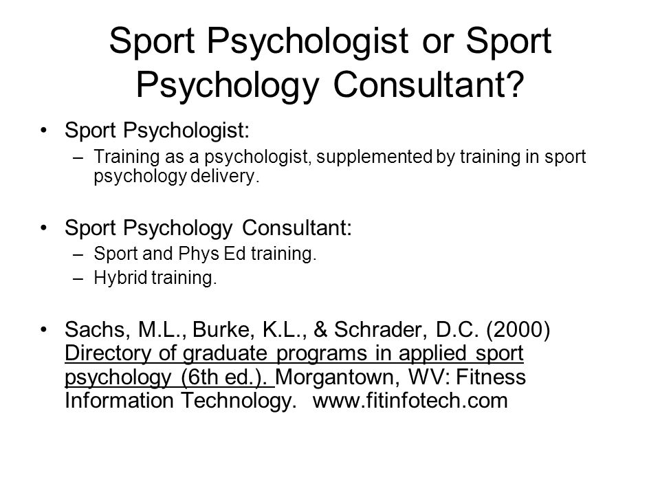 sport psychology masters programs