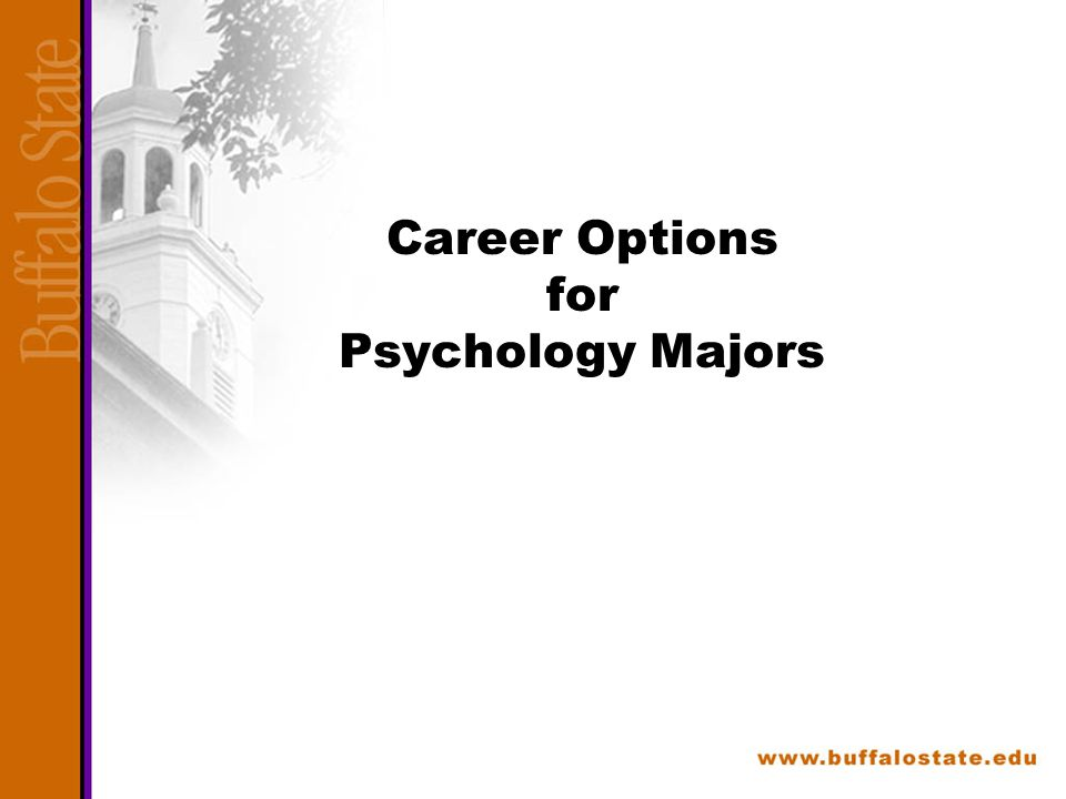 Career Options for Psychology Majors