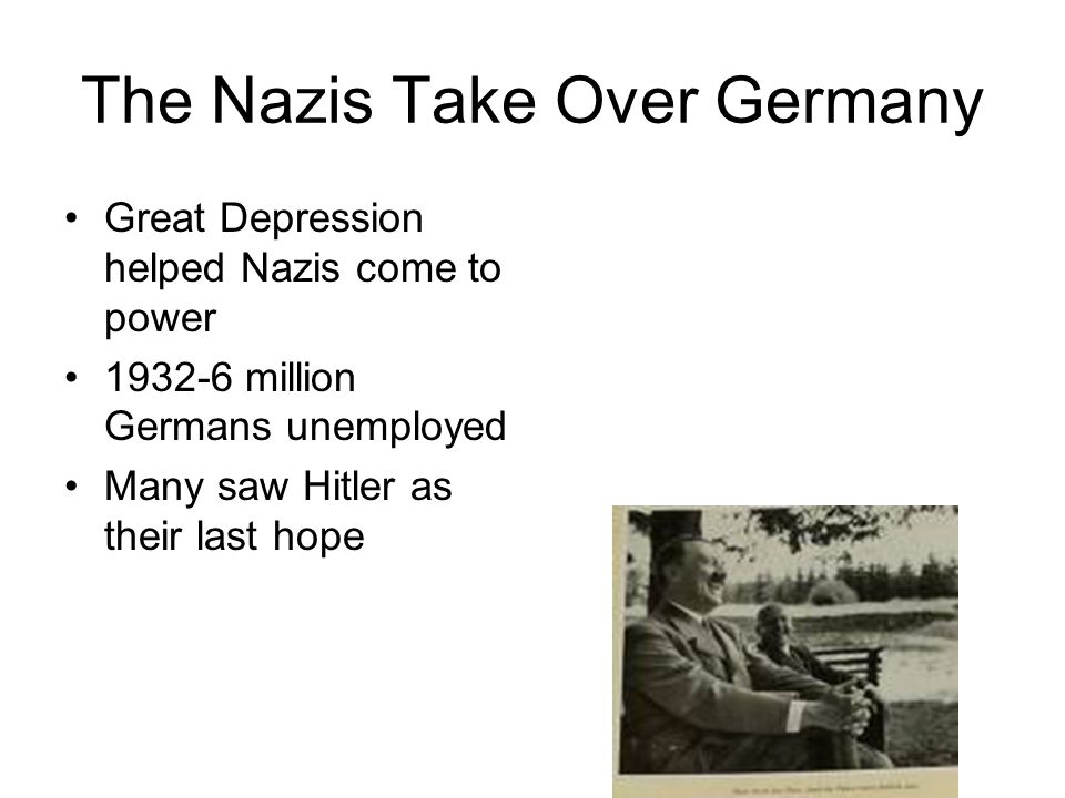 How did the Depression help the Nazis?