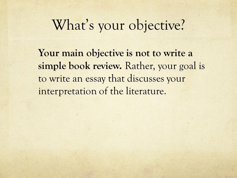 How to write a literature essay