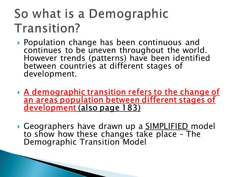 demographic transition definition
