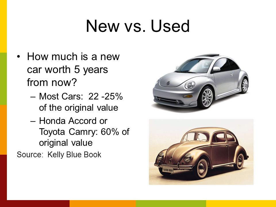 REPORT 8 Buying a New or Used Car.. A Big and Important Purchase New ...