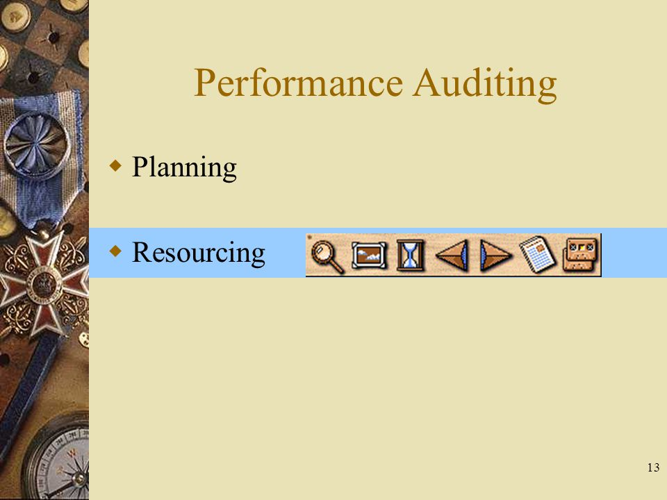 13 Performance Auditing  Planning  Resourcing