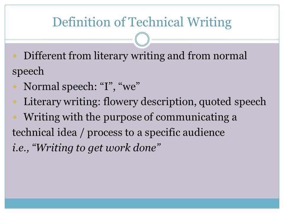 define technical writing Start studying technical writing learn vocabulary, terms, and more with flashcards, games, and other study tools.
