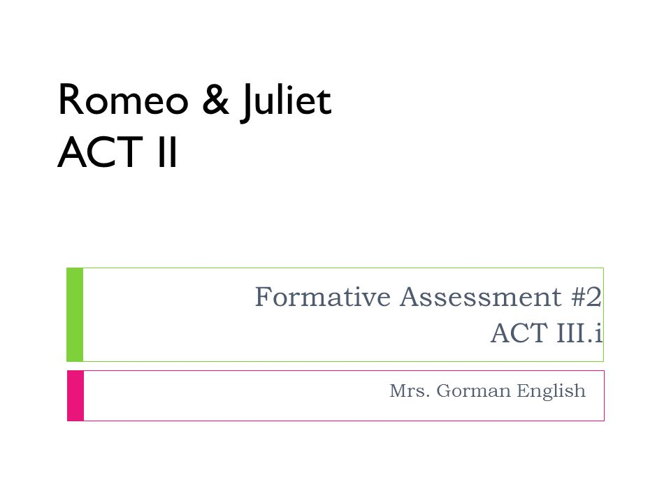 Romeo and juliet body paragraph