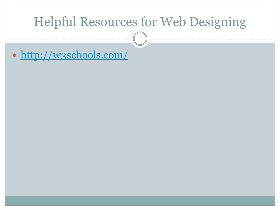 Helpful Resources for Web Designing