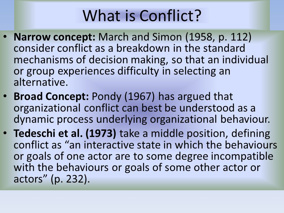 resource based conflict and mechanisms of conflict If everyone had the resources they needed, conflict would the main ideas and mechanisms of conflict theory phptitle=sociological_theory/conflict_theory.
