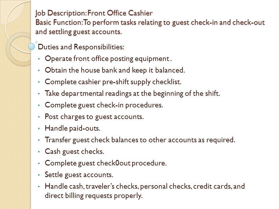 Front Desk Manager Job Description Hotel Hostgarcia – Front Desk Job Description