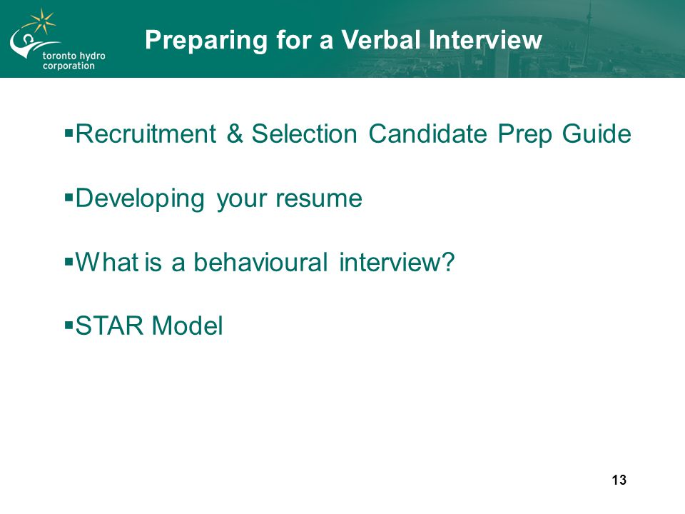 preparing for a behavioural interview