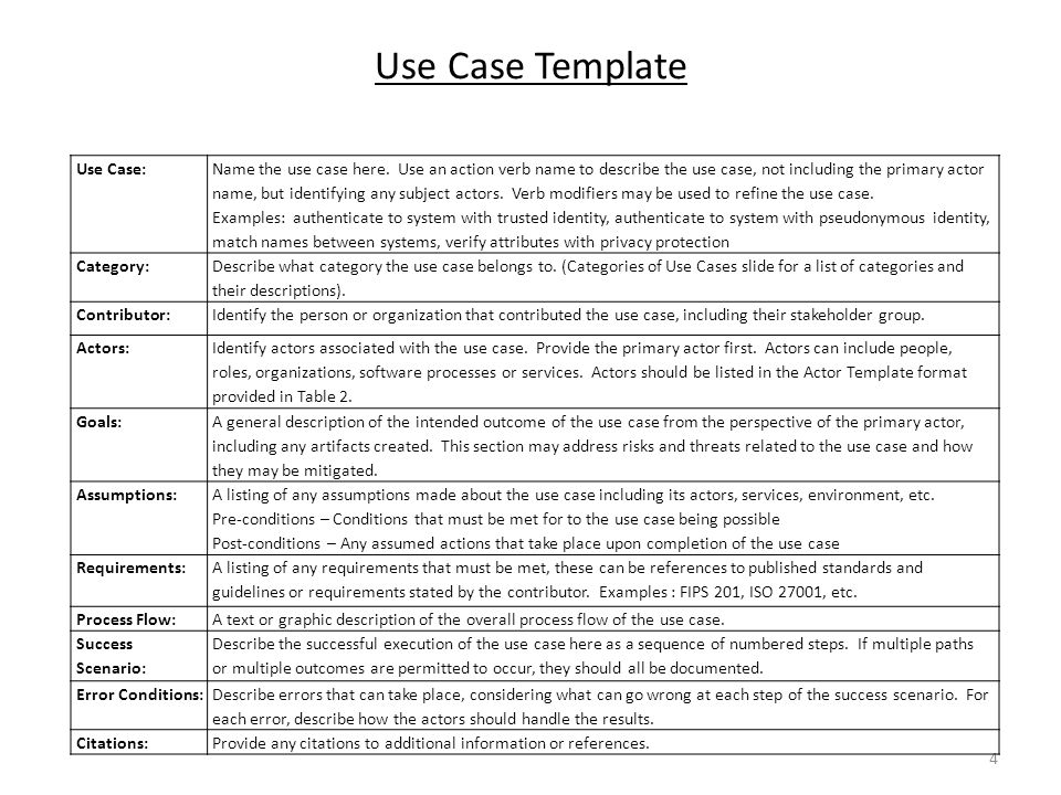 use case document template