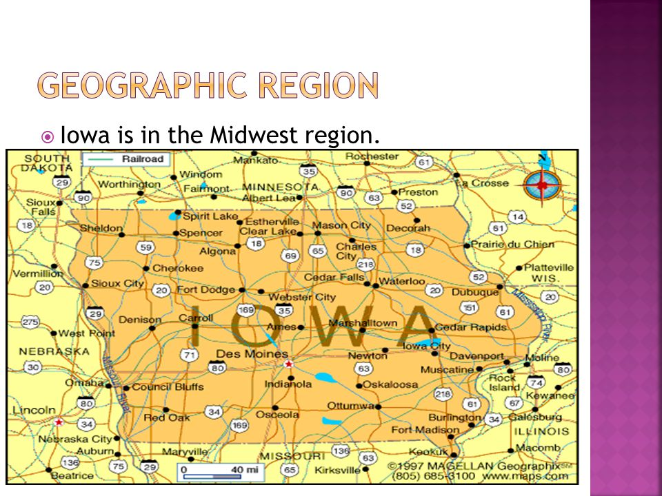  Iowa is in the Midwest region.