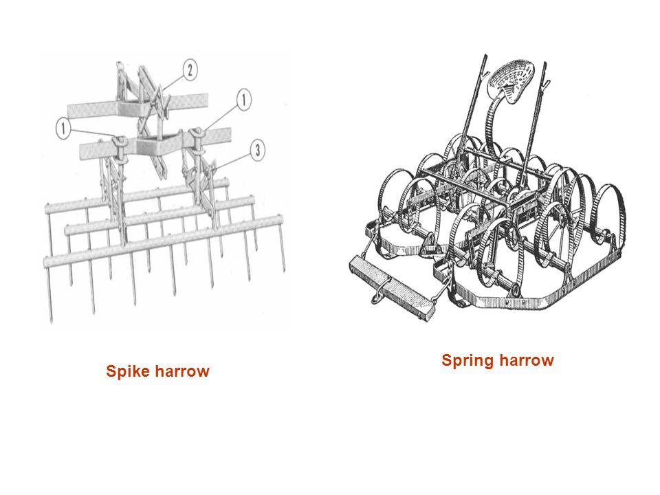 Spike harrow Spring harrow