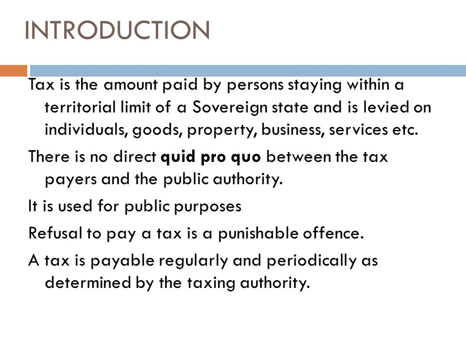 introduction to taxation Provides an introduction to international double taxation other parts of the draft manual are presented as addenda to this paper part one introduction to.