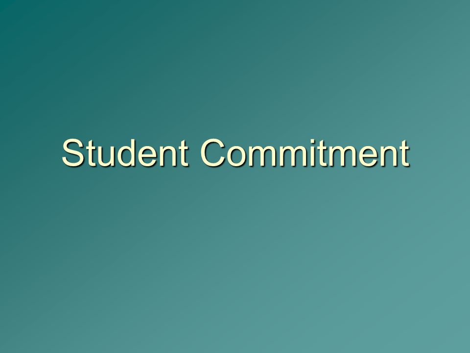 Student Commitment