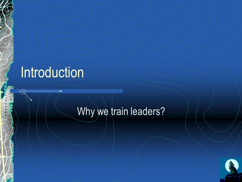 Introduction Why we train leaders