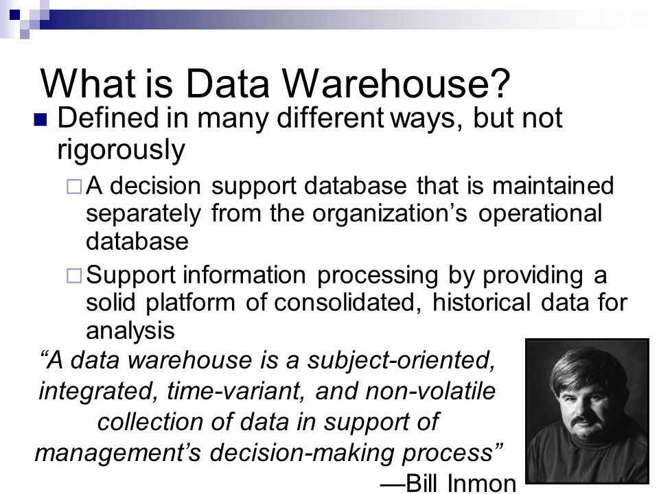What is Data Warehouse.