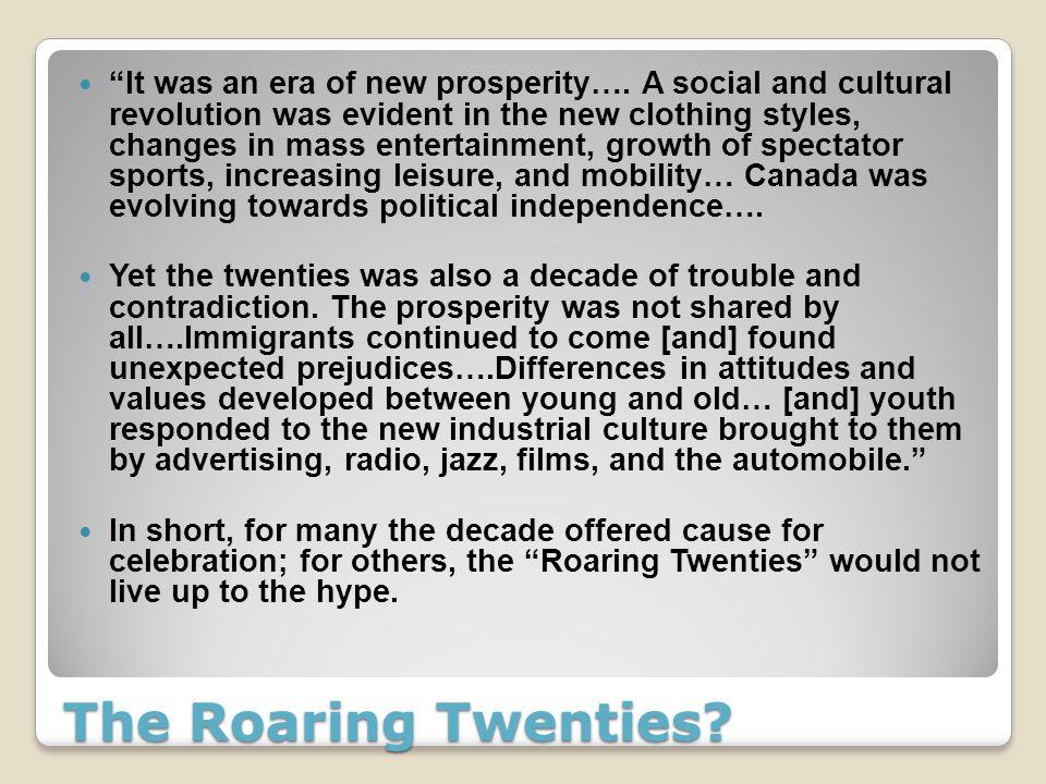 The Roaring Twenties The Roaring Twenties It was an era of new – Roaring Twenties Worksheets