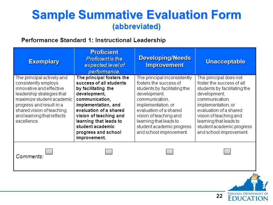 Overviewoverview Virginia Principal Performance Evaluation System