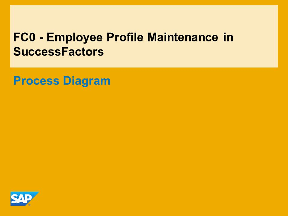 Fc  Employee Profile Maintenance In Successfactors Process Diagram