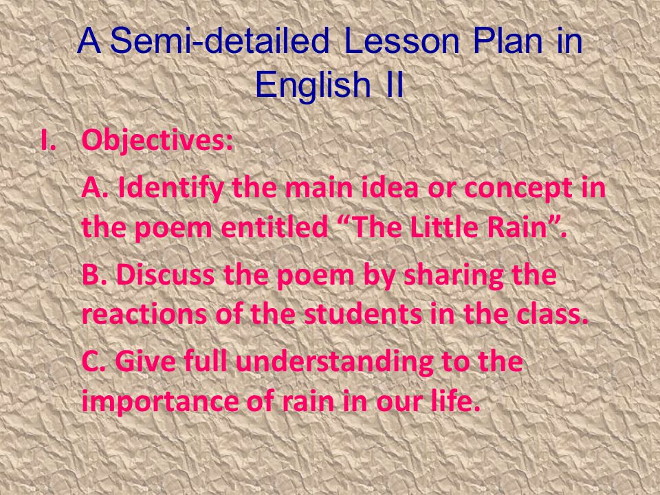 semi detailed lesson plan in english 2