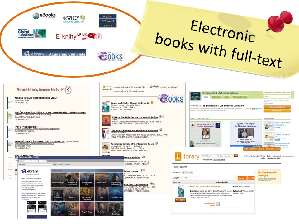 Electronic books with full-text