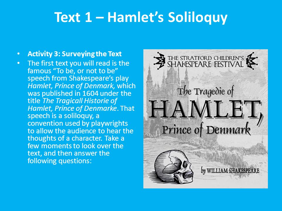 an analysis of all of hamlets soliloquies
