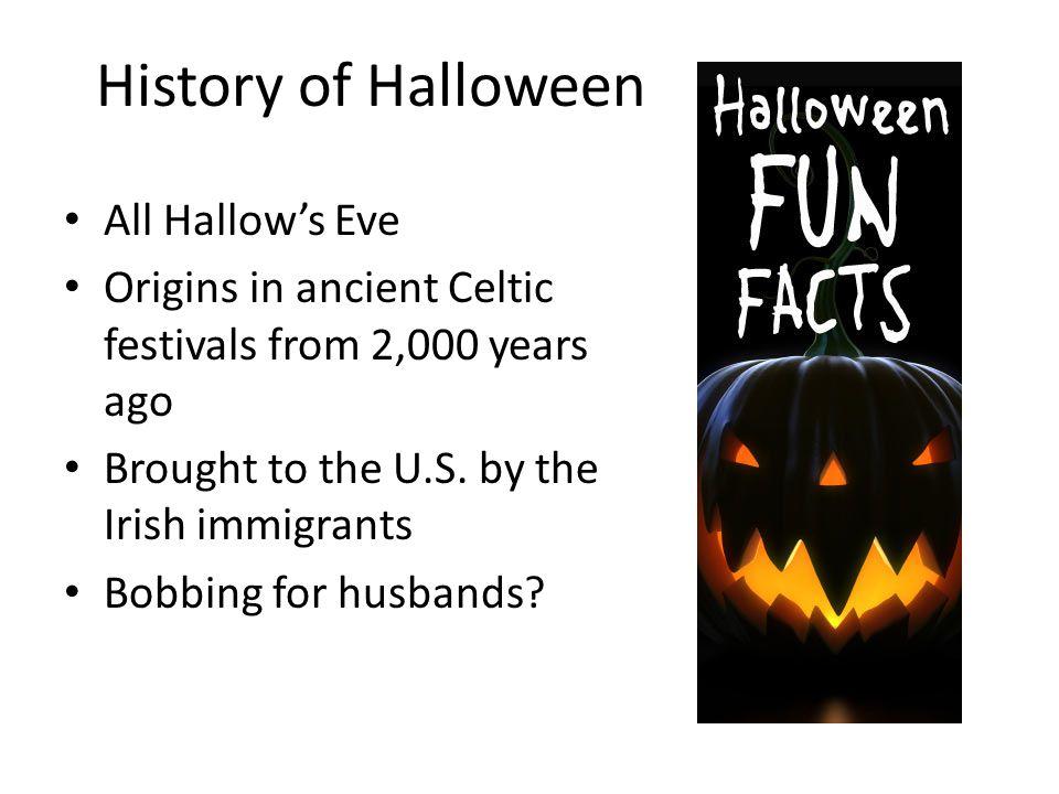 Thursday, October 31 Warm-up: BOO! Halloween fun facts ...