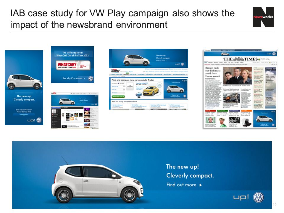 10 IAB case study for VW Play campaign also shows the impact of the newsbrand environment