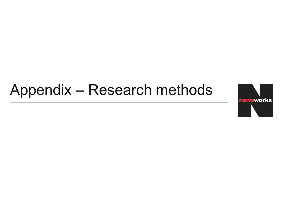 Appendix – Research methods