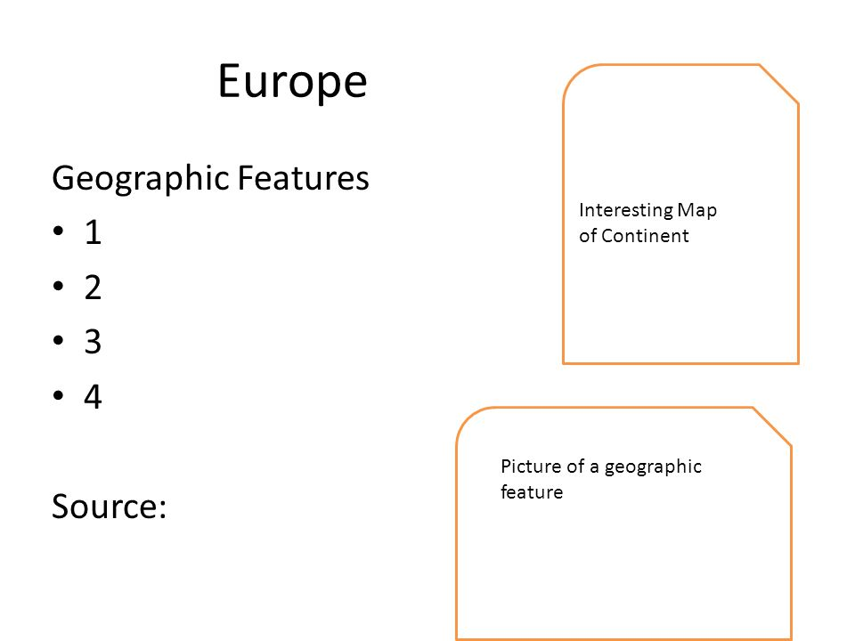 Europe Geographic Features Source: Interesting Map of Continent Picture of a geographic feature