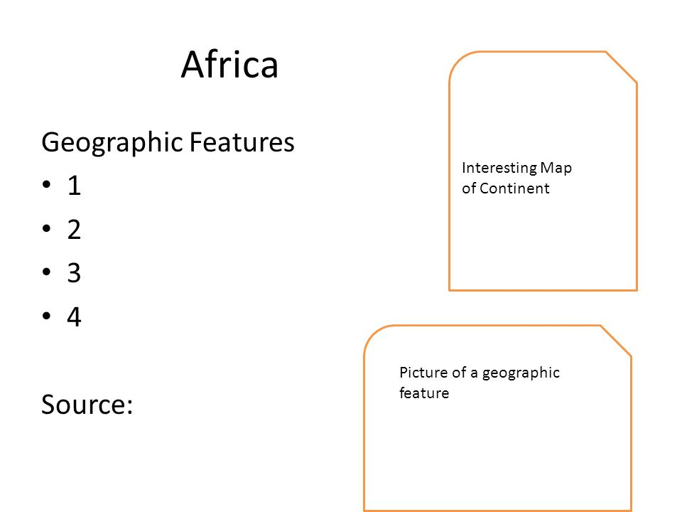 Africa Geographic Features Source: Interesting Map of Continent Picture of a geographic feature