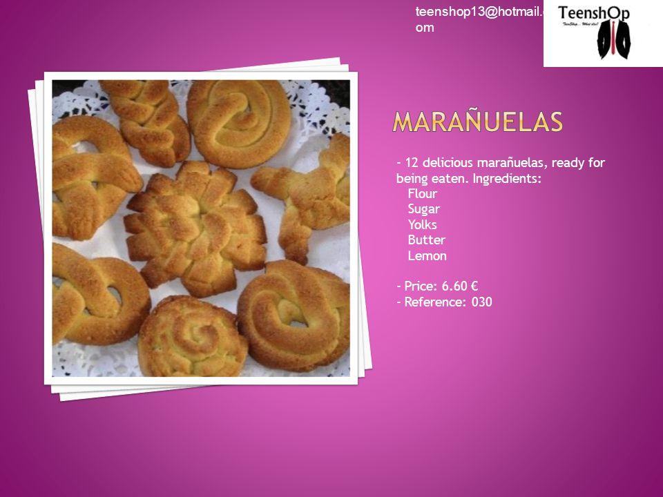 - 12 delicious marañuelas, ready for being eaten.