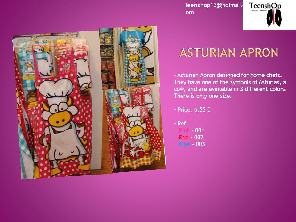 - Asturian Apron designed for home chefs.