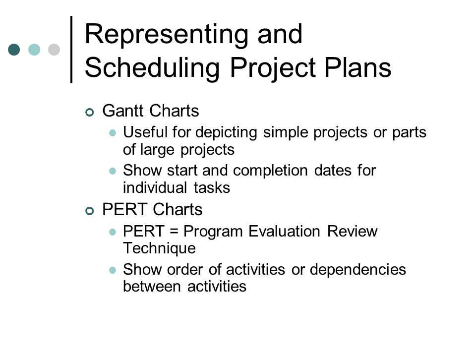 Gantt and pert charts representing and scheduling project plans 2 representing and scheduling project plans gantt charts useful ccuart Choice Image