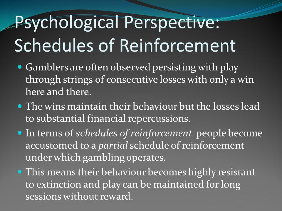 Gambling behavior is on a schedule of reinforcement casino johannesburg airport