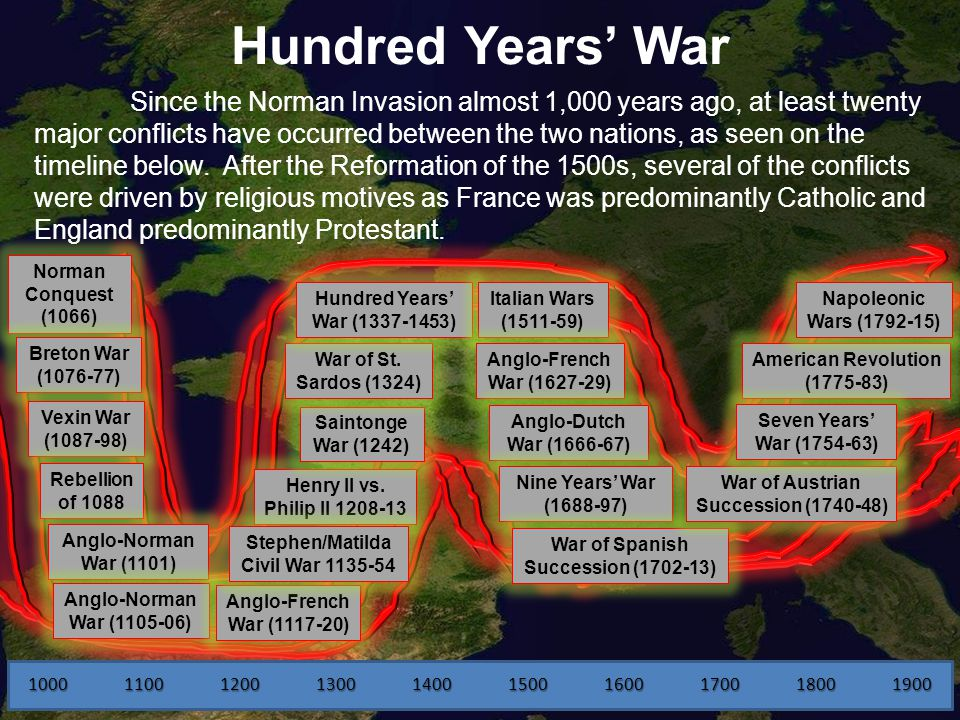 Hundred Years' War England France. Dating back to the 1500s, there ...