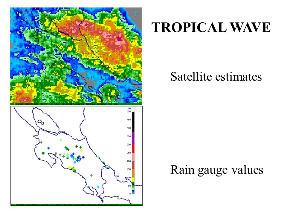 TROPICAL WAVE Satellite estimates Rain gauge values